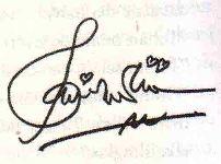 tanda tangan dengan hiasan berlebih