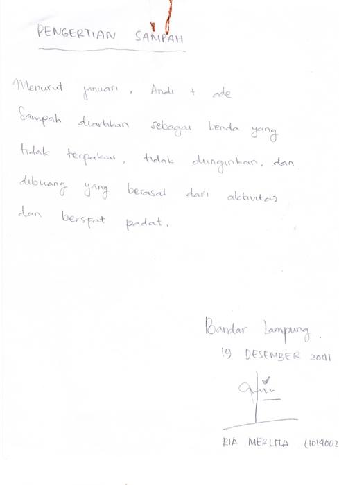Contoh tulisan miring ke kiri (2)